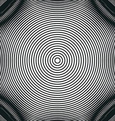 Decorative lined hypnotic contrast background vector