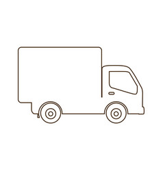 sketch contour transport truck with wagon icon vector image