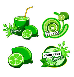 Citrus lime fresh label vector