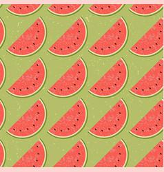 Seamless pattern fruit water melon vector