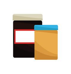 Medicine containers icon vector