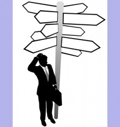 search directions vector image