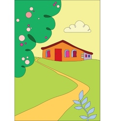 Cottage on the outskirts vector