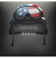 Background of american helmet and goggles vector