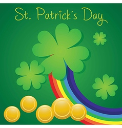 St patricks day concept on green background with r vector
