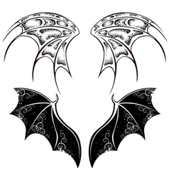 Black dragon wings vector