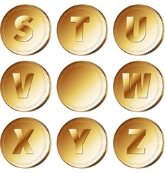 Coins with letters - part 3 vector