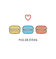 Set of isolated colorful doodle macaroon sketch vector