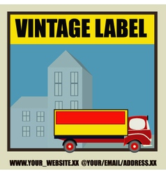 Retro auto delivery label vector