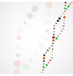 Abstract dna futuristic molecule vector