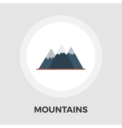 Mountains line icon vector