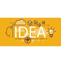 Idea business startup banner concept vector