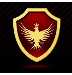 a red shield with an eagle vector image