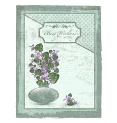 Best wishes postcard vector