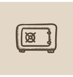 Safe sketch icon vector
