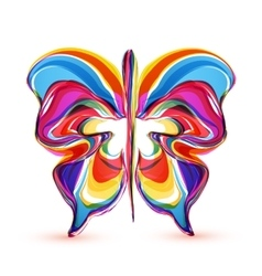 abstract colorful butterflies vector image vector image