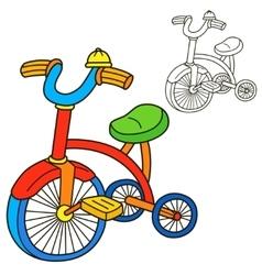 Bicycle Coloring book page Cartoon vector image vector image