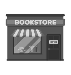 Bookstore icon in monochrome style isolated on vector