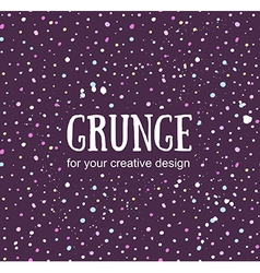 Card template with hand painted grunge background vector image