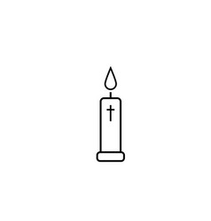 church candle icon vector image vector image