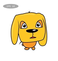 cute fun dog cartoon vector image