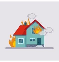 Fire insurance vector