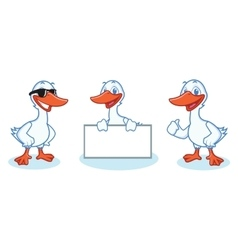 Goose Mascot happy vector image