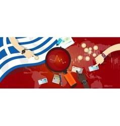 Greece economy down financial crisis debt default vector