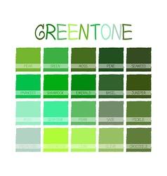 Greentone color tone vector