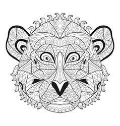 Hand drawn decorative monkey vector