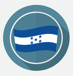 icon honduran flag on white circle with a long vector image