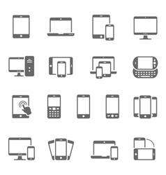 Icon set - responsive devices vector