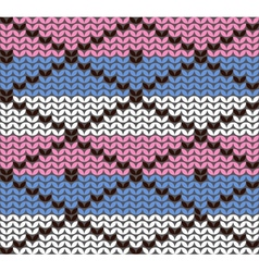 knitting pattern with rhombuses vector image vector image
