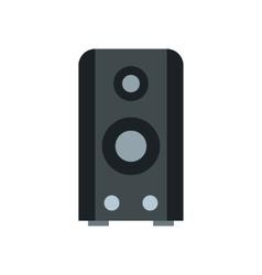 Music column icon flat style vector image