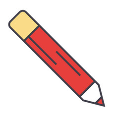 Pencil office contour concept line icon vector