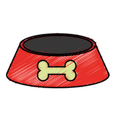 Pet food bowl vector