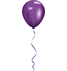 Purple balloon vector
