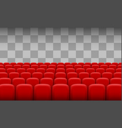 red chairs of the cinema vector image