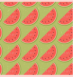 Seamless pattern fruit water melon vector