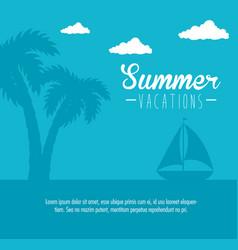 Summer vacations icon vector