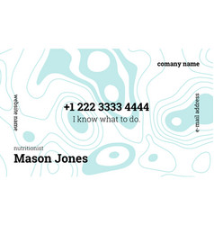 White and blue creative business card template vector