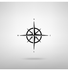 Wind rose sign vector image