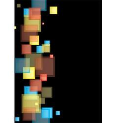 Square rainbow presentation vector image