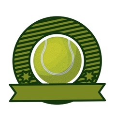 Tennis tournament emblem with ball vector