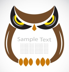The design of the owl vector image