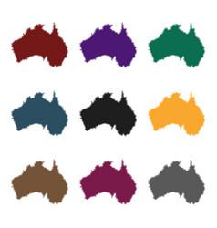 territory of australia icon in black style vector image