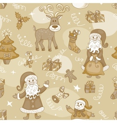 Sepia holiday seamless pattern vector