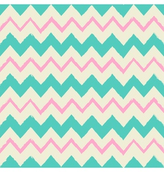 Seamless chevron pattern in blue and pink vector