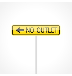 No outlet sign vector