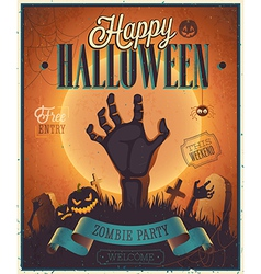 halloween flyer2 vector image